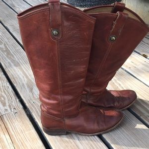 Frye melissa tall boot brown 7B